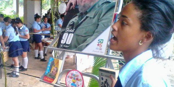 Entre tantas actividades no podían faltar el homenaje y estudio del legado del joven eterno, Fidel