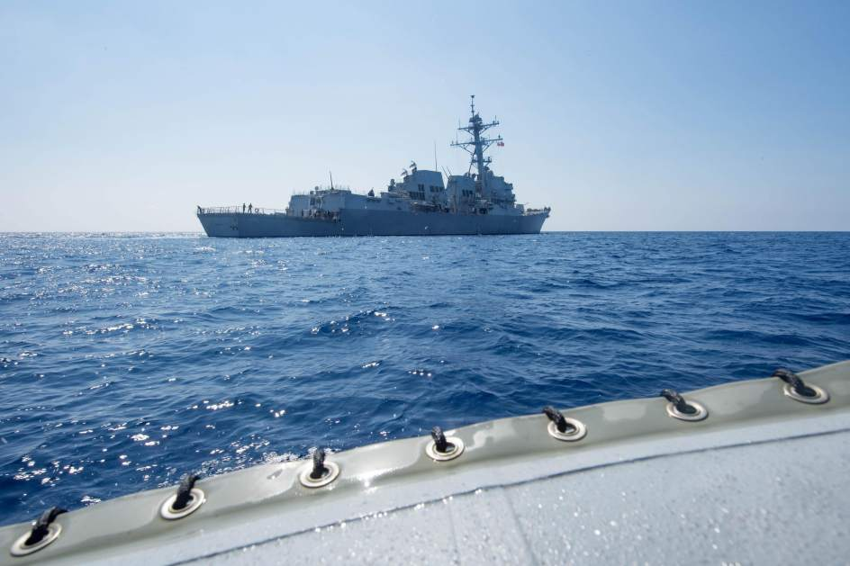 El USS Dewey en su travesía por el mar de China Meridional (US Navy)