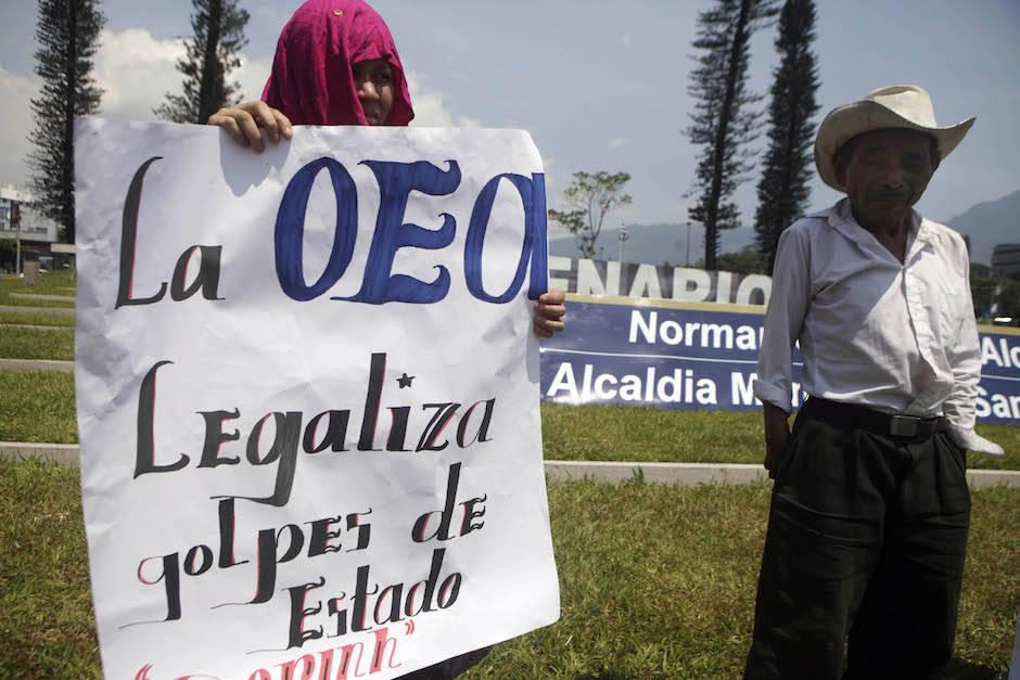 Protestas contra la OEA. Foto: Arnulfo Franco/ AP