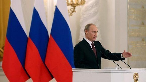 """El presidente ruso subrayó que su país está """"abierto al trabajo en común, a la realización de proyectos comunes que beneficien a todos"""". Foto: Reuters."""