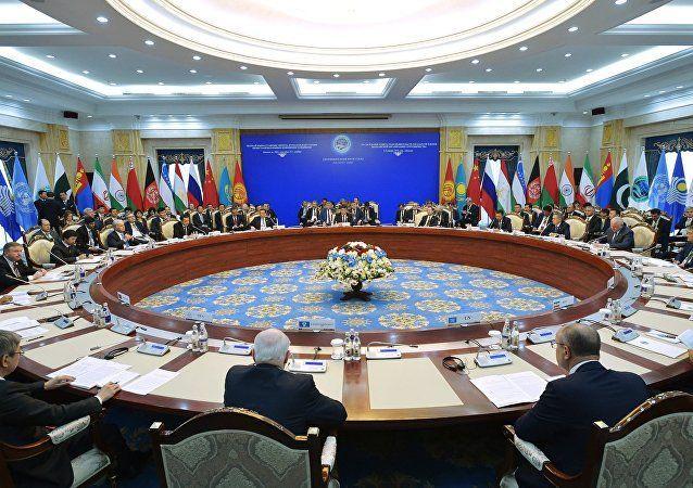 Reunión de la Organización de la Cooperación de Shanghai. Foto tomada de Sputnik.