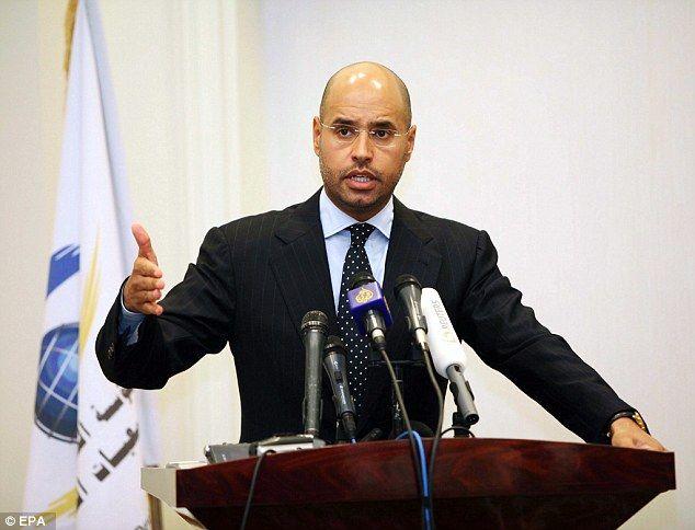 Saif Al Islam Gadafi. Foto: EPA.