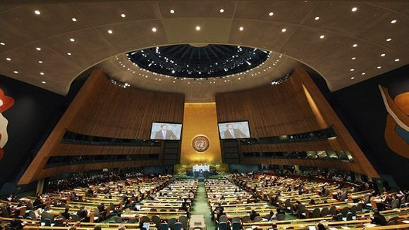 Irán, Qatar y Siria recordaron que Israel ha ignorado por décadas resoluciones de la Asamblea General. Foto: TeleSur.