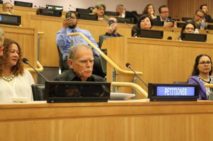 López Rivera defendió la esperanza de que un día Puerto Rico sea descolonizado y disfrute la soberanía y la autodeterminación como un miembro más de la comunidad de naciones. Foto: Prensa Latina.