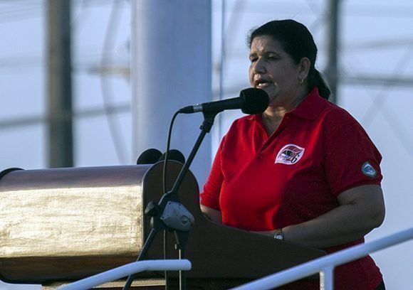 Gladys Martínez Verdecia, secretaria del Partido Comunista de Cuba en Pinar del Río. Foto: Irene Pérez/ Cubadebate.