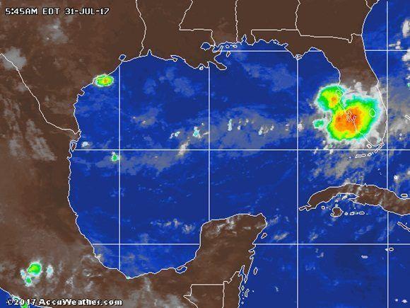 Se forma en el Golfo México tormenta tropical Emily, sexta de la temporada.