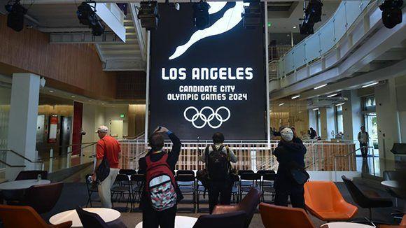 Los Ángeles será la sede de los Juegos Olímpicos de 2028. A falta de confirmación oficial, París acogerá la edición de 2024. Foto: AFP.