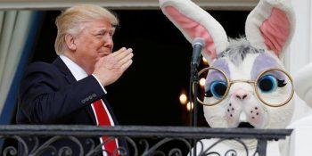 El presidente de los Estados Unidos, Donald Trump, durante la celebración de la pascua. Foto: Reuters.