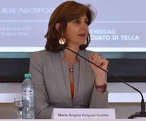 Canciller de Colombia, María Angela Holguín. Foto: Agencias.