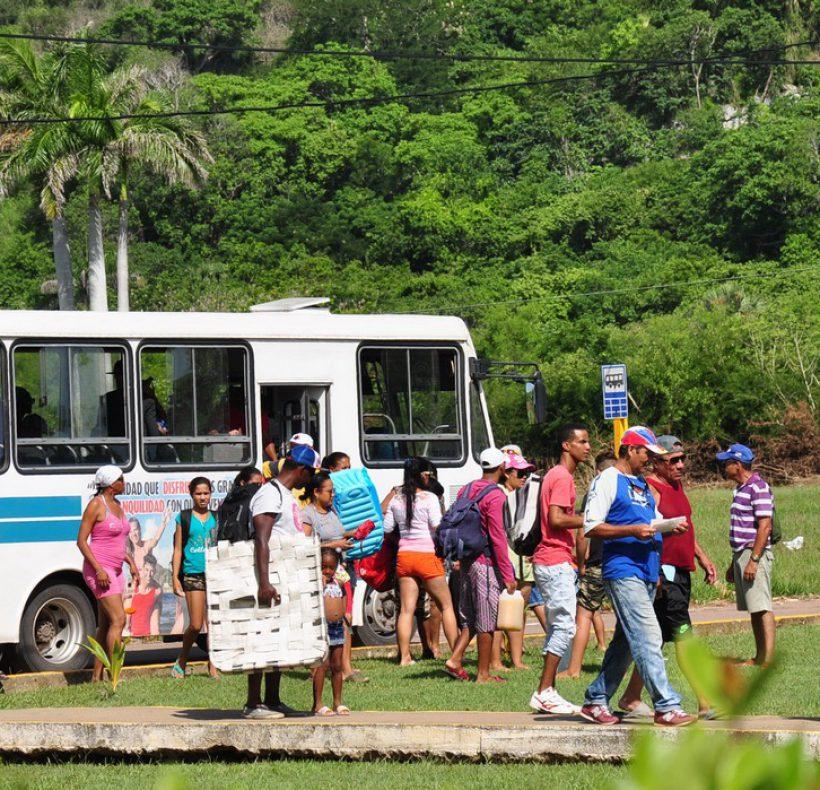 INAUGURACIÓN VERANO Foto 3- Nilvia se siente satisfecha con el transporte público