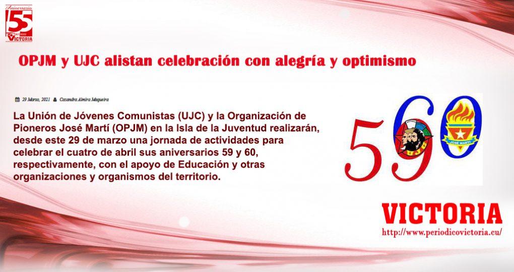 OPJM y UJC alistan celebración con alegría y optimismo