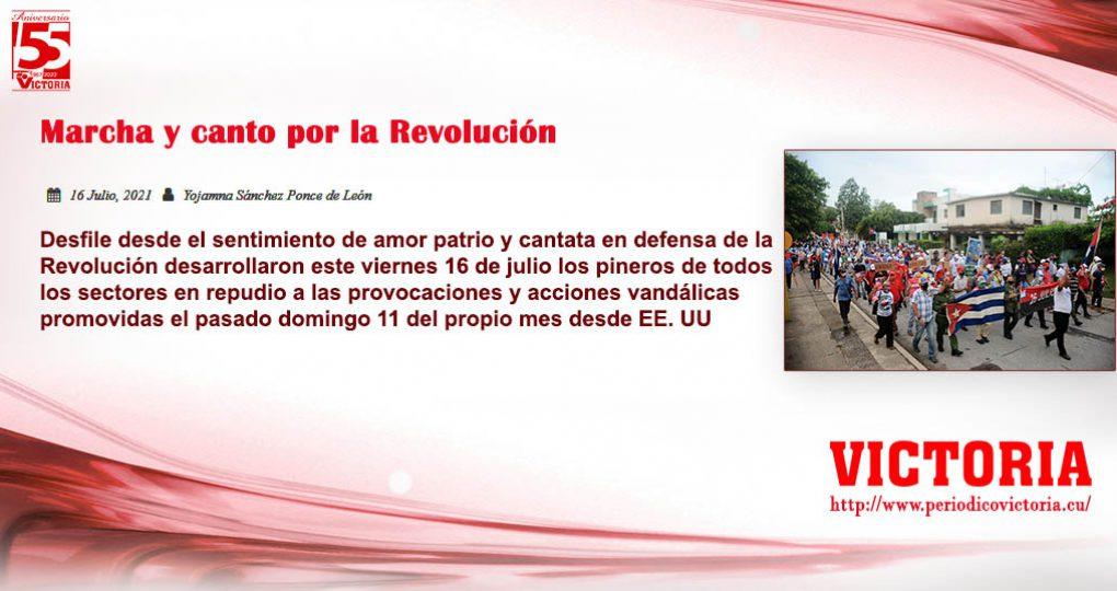 Marcha y canto por la Revolución