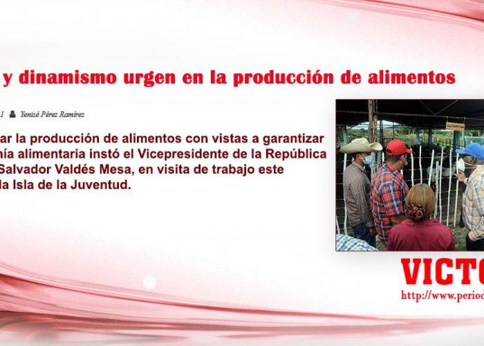 Manos y dinamismo urgen en la producción de alimentos