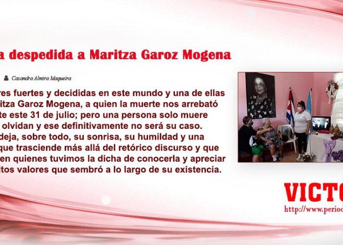 Sentida despedida a Maritza Garoz Mogena
